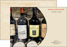 realiser depliant 3 volets  6 pages  vin commerce et producteur caviste vin vignoble MLIG31998