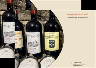 personnaliser maquette affiche vin commerce et producteur caviste vin vignoble MLIG32000