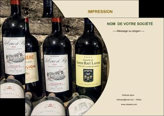 creer modele en ligne flyers vin commerce et producteur caviste vin vignoble MLIG32004
