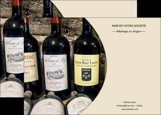 personnaliser modele de affiche vin commerce et producteur caviste vin vignoble MLIG32006
