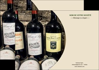 maquette en ligne a personnaliser affiche vin commerce et producteur caviste vin vignoble MLIG32008
