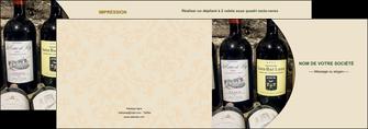 faire depliant 2 volets  4 pages  vin commerce et producteur caviste vin vignoble MLIG32012