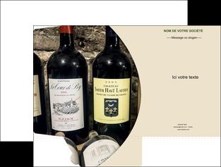 maquette en ligne a personnaliser pochette a rabat vin commerce et producteur caviste vin vignoble MLIG32016