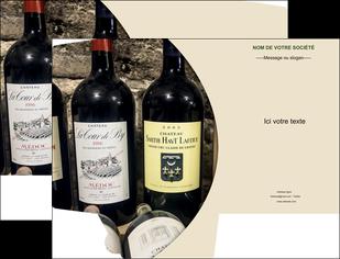 personnaliser modele de pochette a rabat vin commerce et producteur caviste vin vignoble MLIG32018