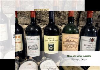 maquette en ligne a personnaliser flyers vin commerce et producteur caviste vin vignoble MLIG32062
