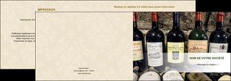 imprimer depliant 2 volets  4 pages  vin commerce et producteur caviste vin vignoble MLIG32076