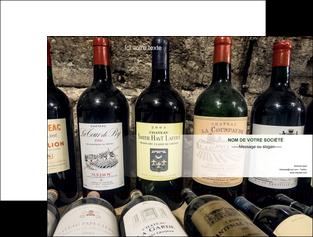 creer modele en ligne pochette a rabat vin commerce et producteur caviste vin vignoble MLIG32080