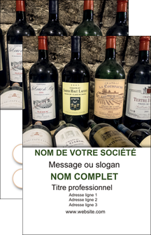 impression carte de visite vin commerce et producteur caviste vin vignoble MLIG32084