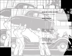 creation graphique en ligne carte de visite garage concessionnaire automobile reparation de voiture MIS32142