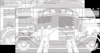 maquette en ligne a personnaliser depliant 4 volets  8 pages  garage concessionnaire automobile reparation de voiture MIS32144
