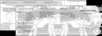 personnaliser maquette depliant 4 volets  8 pages  garage concessionnaire automobile reparation de voiture MIS32146