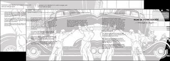cree depliant 4 volets  8 pages  garage concessionnaire automobile reparation de voiture MIS32148