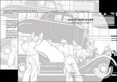 modele en ligne depliant 2 volets  4 pages  garage concessionnaire automobile reparation de voiture MIS32150