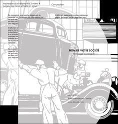 imprimerie depliant 2 volets  4 pages  garage concessionnaire automobile reparation de voiture MIS32152