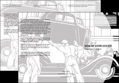 personnaliser maquette depliant 3 volets  6 pages  garage concessionnaire automobile reparation de voiture MIS32156