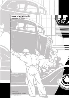 maquette en ligne a personnaliser tete de lettre garage concessionnaire automobile reparation de voiture MIS32160
