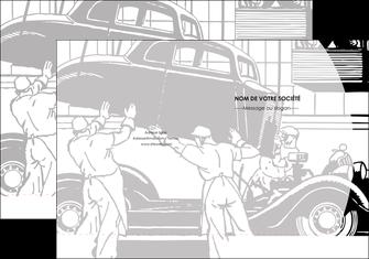 modele pochette a rabat garage concessionnaire automobile reparation de voiture MIS32168
