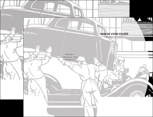 maquette en ligne a personnaliser pochette a rabat garage concessionnaire automobile reparation de voiture MIS32170