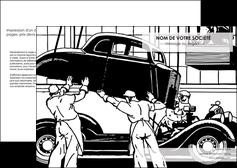 modele depliant 2 volets  4 pages  garage garagiste atelier de garagiste MIS32338