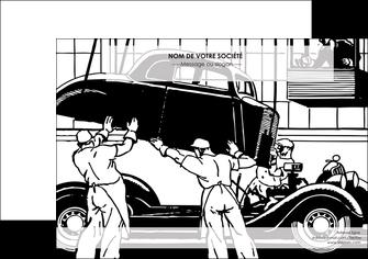 modele affiche garage garagiste atelier de garagiste MIS32342