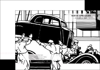 modele en ligne pochette a rabat garage garagiste atelier de garagiste MIS32354