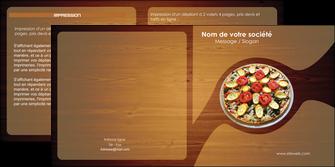 imprimer depliant 2 volets  4 pages  pizzeria et restaurant italien pizza pizzeria zone tampon MLGI32362