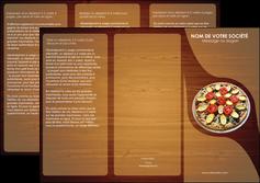 impression depliant 3 volets  6 pages  pizzeria et restaurant italien pizza pizzeria zone tampon MLGI32366