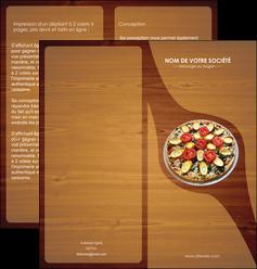 personnaliser maquette depliant 2 volets  4 pages  pizzeria et restaurant italien pizza pizzeria zone tampon MLGI32372
