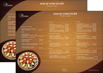 imprimerie set de table pizzeria et restaurant italien pizza pizzeria zone tampon MLGI32374