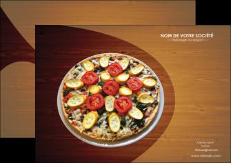 personnaliser maquette flyers pizzeria et restaurant italien pizza pizzeria zone tampon MLGI32380
