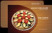 maquette en ligne a personnaliser carte de visite pizzeria et restaurant italien pizza pizzeria zone tampon MLGI32386
