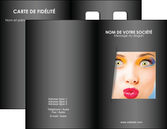 imprimer carte de visite centre esthetique  maquillage beaute couleur MLGI32526