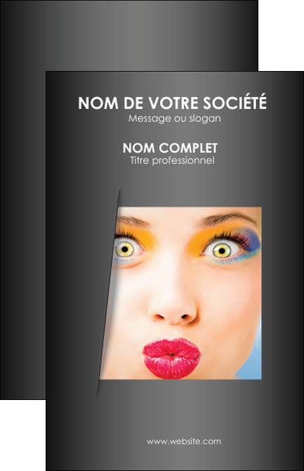 Exemple Carte De Visite Cosmetique Maquillage Beaute Couleur MLGI32528