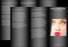 modele en ligne depliant 3 volets  6 pages  centre esthetique  maquillage beaute couleur MLGI32536