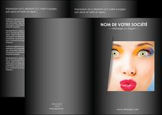 faire depliant 2 volets  4 pages  centre esthetique  maquillage beaute couleur MLGI32542