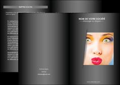 faire modele a imprimer depliant 2 volets  4 pages  centre esthetique  maquillage beaute couleur MLGI32544