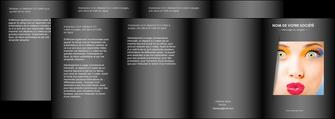 creer modele en ligne depliant 4 volets  8 pages  centre esthetique  maquillage beaute couleur MLGI32548