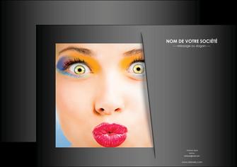 maquette en ligne a personnaliser affiche centre esthetique  maquillage beaute couleur MLGI32554