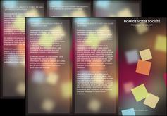 personnaliser maquette depliant 3 volets  6 pages  abstrait design texture MLIG32626