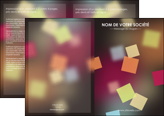 realiser depliant 2 volets  4 pages  abstrait design texture MLIGCH32632