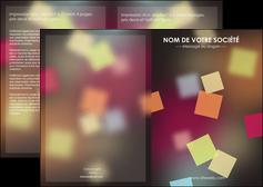 realiser depliant 2 volets  4 pages  abstrait design texture MIF32632