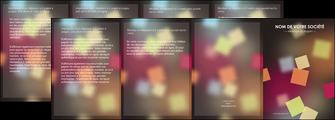 imprimer depliant 4 volets  8 pages  abstrait design texture MIF32636