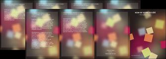 modele en ligne depliant 4 volets  8 pages  abstrait design texture MLIG32638