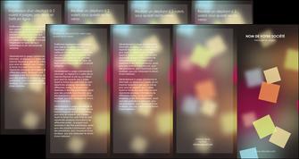 personnaliser modele de depliant 4 volets  8 pages  abstrait design texture MLIG32640
