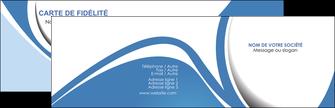 Impression Cartes de visite  Carte commerciale de fidélité papier à prix discount et format Carte de visite Double - Paysage