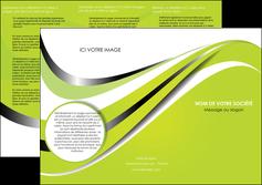 faire depliant 3 volets  6 pages  texture contexture structure MLIG32902