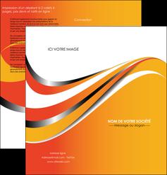 imprimerie depliant 2 volets  4 pages  texture contexture structure MIF32998