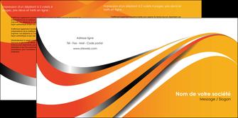 creer modele en ligne depliant 2 volets  4 pages  texture contexture structure MIF33010