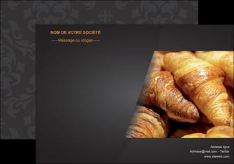 personnaliser maquette affiche boulangerie maquette boulangerie croissant patisserie MIF33094