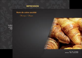 faire flyers boulangerie maquette boulangerie croissant patisserie MIF33096